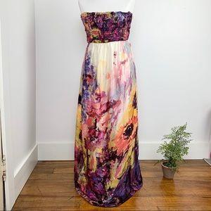 A Pea in the Pod silk maxi dress